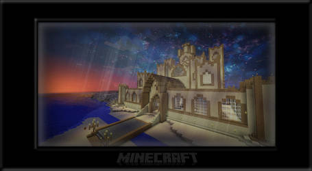 Sunset on the Sand Castle by badmichel