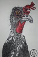 Inktober 2018 - Day 5 - Chicken by S4MMY4RT