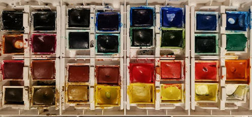 My Watercolour half Pans by S4MMY4RT