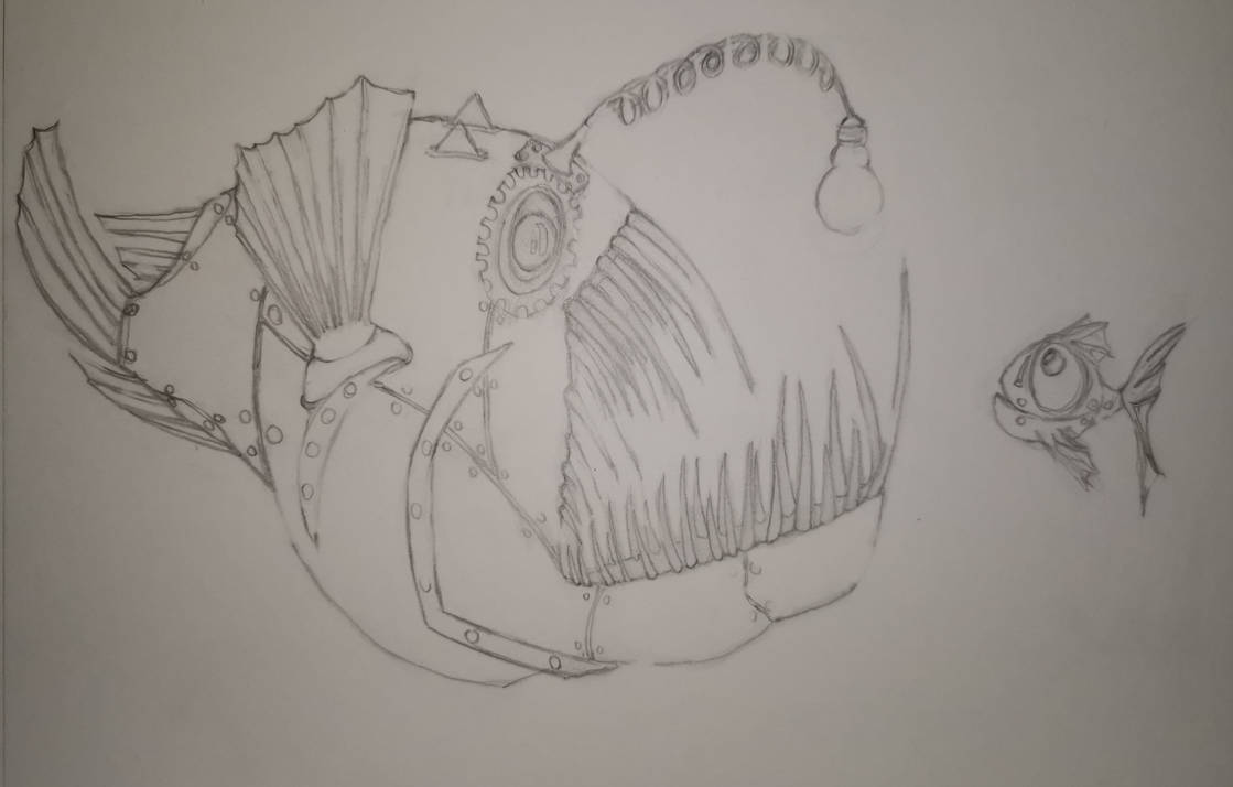 Steampunk Anglerfish W. I. P by S4MMY4RT