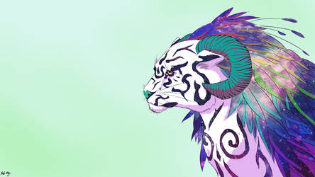 Tiger Cosmic by OverlordBambi11