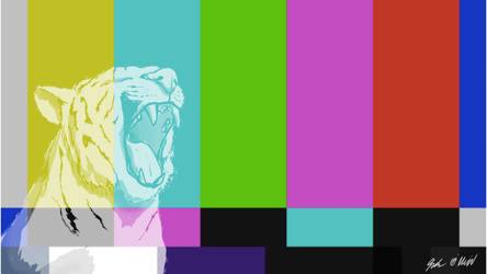 Tiger Tv Wallpaper by OverlordBambi11