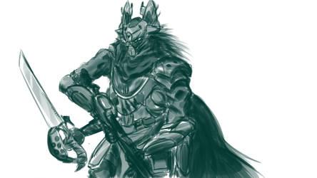 Destiny Captain Sketch by OverlordBambi11