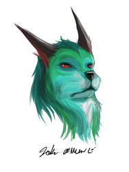 Green Wolfish by OverlordBambi11