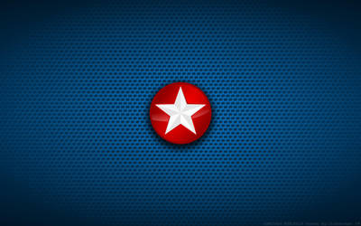 Wallpaper - Captain America 'Side Star' Logo by Kalangozilla
