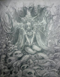 necromancer girl  by KewinArt