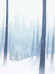 Snowy Forest by KewinArt