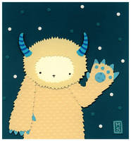 Yeti with Dots by renton1313