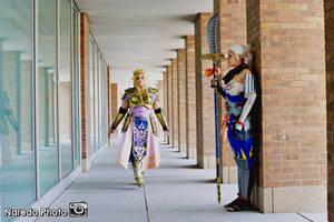 Zelda and Impa by rocknroler
