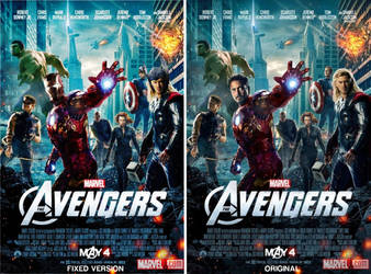The Avengers Official Movie Poster FIXED by Alex4everdn