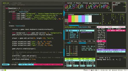 my i3wm Manjaro Monokai August screenshot by anshulc95