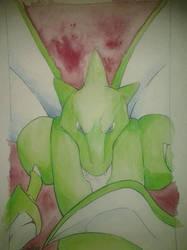 123. Scyther by Haileyjo13