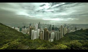 Submerging Hong Kong 2 by k-pro