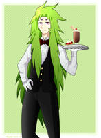 Shion The Waiter By Magda-chan by magdalenagirl