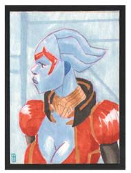 card 51 Samara Mass Effect scan front by turtlespopart