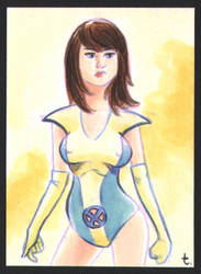 18.4.22 Kitty Pryde yellow costume by turtlespopart