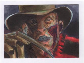 card 66 Freddy Krueger scan front by turtlespopart