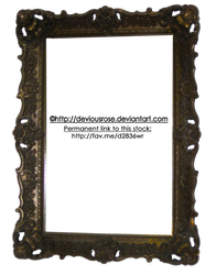 Ornate Frame Stock- PNG by DeviousRose