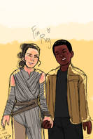 Finn/Rey by Ccaedius