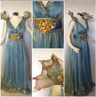 Daenerys Targaryen Blue Dress by glimmerwood