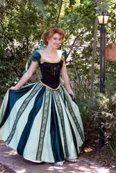 Frozen Anna's Coronation Cosplay Dress by glimmerwood