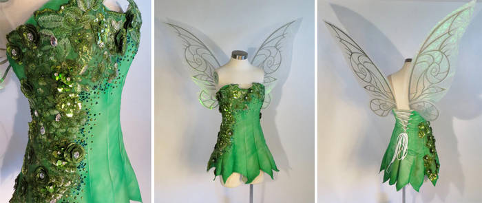 Tinkerbell Cosplay Dress by glimmerwood