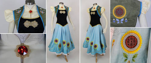 Frozen Fever Anna Cosplay Dress Costume by glimmerwood
