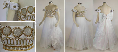 Sailor Moon Princess Serenity Cosplay Costume Gown by glimmerwood