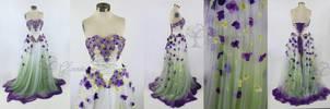 Wisteria Wedding Gown by glimmerwood