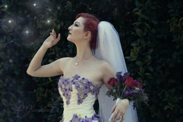 Wisteria Wedding Gown by Glimmerwood by glimmerwood