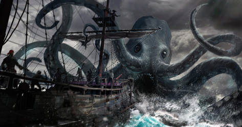 Pirates of the Undead Seas - monster attack by 5ofnovember
