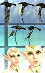 Elf clothes make up and poses for daz by AleL98