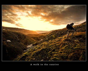 A walk in the sunrise by tuborg