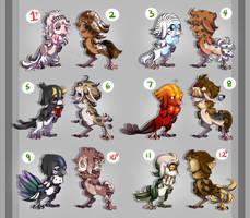 Batch 3 of Eyries CLOSED by Dragonpunk15