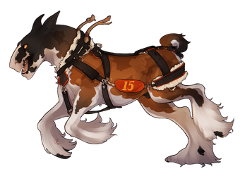 Reiner the clydesdale plow king by Dragonpunk15