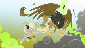 Aerial Skirmish by Equestria-Prevails