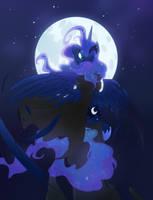 Sad Mystic Moon by Equestria-Prevails