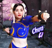 Chun li by BlossomPowers