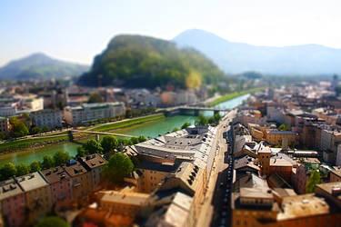 Salzburg view tilt shift by hans64-kjz
