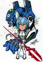 Evangelion Rei-Eva 00 by Djiguito
