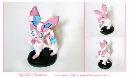 Nymphali - Sylveon Sculpture by Lu0ren