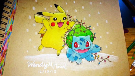 Pokemon Christmas by wendythewilf
