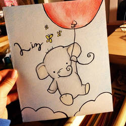 Elephant and the Red Balloon by wendythewilf