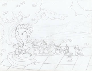 Fluttershy's Little Tea Party - Request by Sonic-Spatula