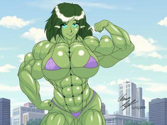 She Hulk - Bikini Uniform by LunarDiaries