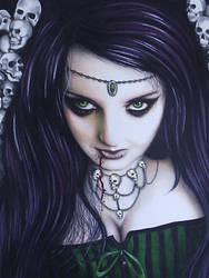 Lady Hellen, Queen of skulls by micheleannart