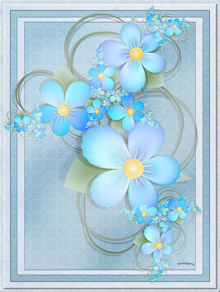Blue Fairy Bouquet by FractalEyes