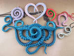 Tentacle necklace bunch by KTOctopus