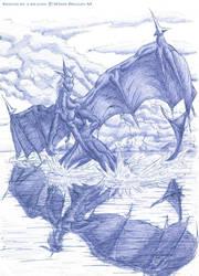 Dragon. reflection. by White-Dragon-NL
