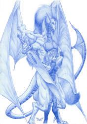 My love's gardian. by White-Dragon-NL